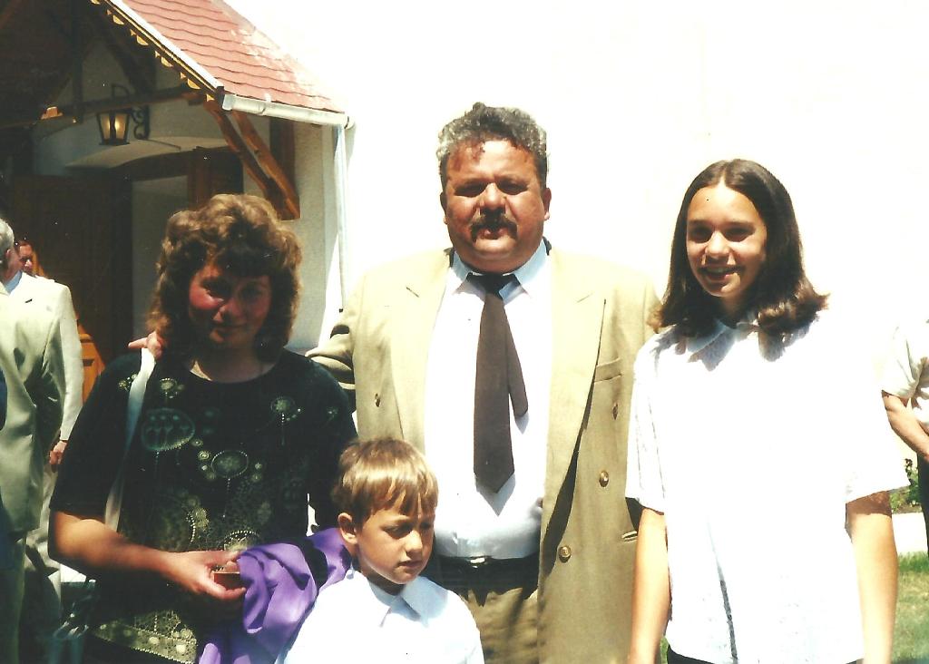 A család konfirmációkor