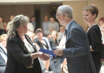 A kitüntetés átvétele 2015. június 4-én