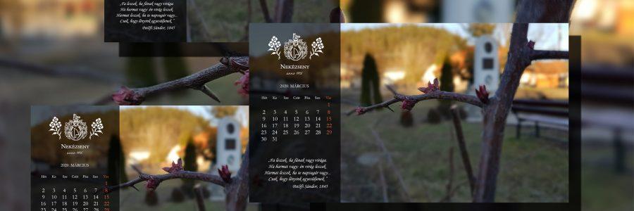 Márciusi háttérnaptárak